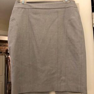 Express Light Grey Pencil Skirt